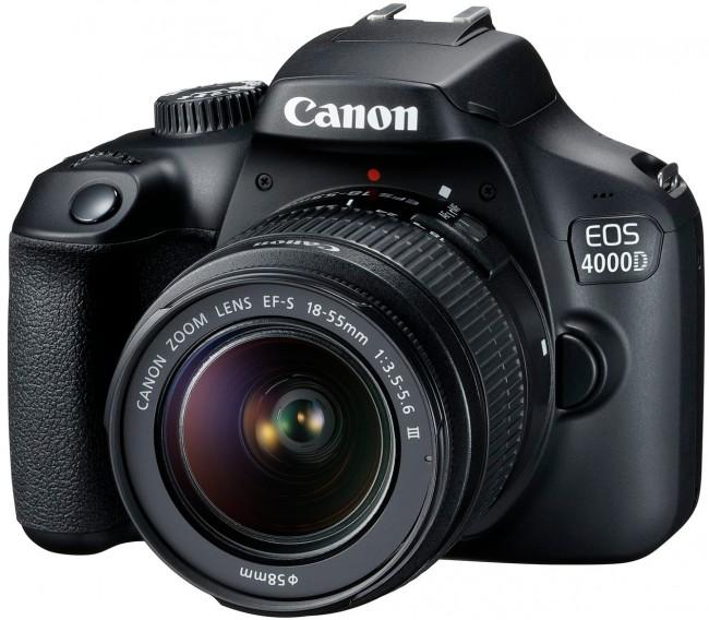 Canon EOS 4000D + obiektyw EF-S 18-55 DC III - zdjęcie główne