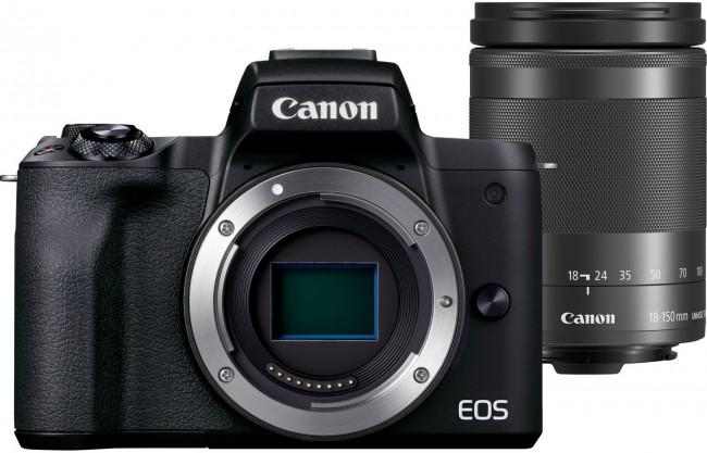 Canon EOS M50 Mark II czarny + obiektyw EF-M 18-150mm f/3.5-6.3 IS STM grafitowy - zdjęcie główne