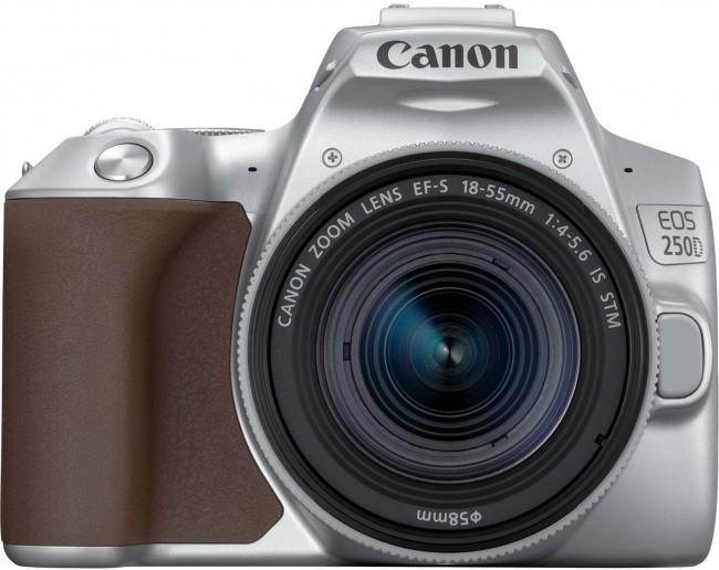 Canon EOS 250D Srebrny + obiektyw EF-S 18-55mm f/4-5.6 IS STM - zdjęcie główne