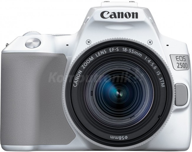 Canon EOS 250D Biały + obiektyw EF-S 18-55mm f/4-5.6 IS STM - zdjęcie główne