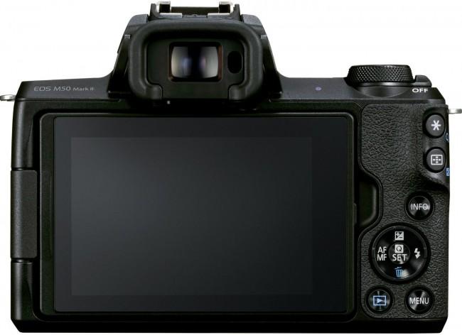 Canon EOS M50 Mark II czarny + obiektyw EF-M 15-45mm f/3.5-6.3 IS STM grafitowy - zdjęcie główne