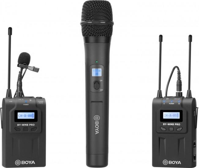 Boya uhf handheld wireless microphone - 2 tx+1 rx - zdjęcie główne