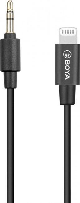Boya 3.5mm male trs to male lightning adapter cable (20cm) - zdjęcie główne