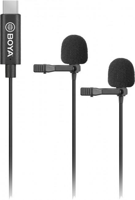 Boya dual-mic lavalier microphone -for type-c devices - zdjęcie główne