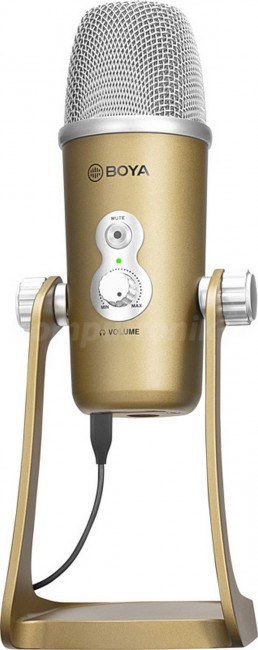 Boya usb microphone-for type-c and usb devices (gold color) - zdjęcie główne