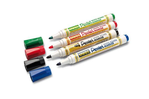 Pentel MW85 zestaw 4 sztuk kolorowych markerów - zdjęcie główne