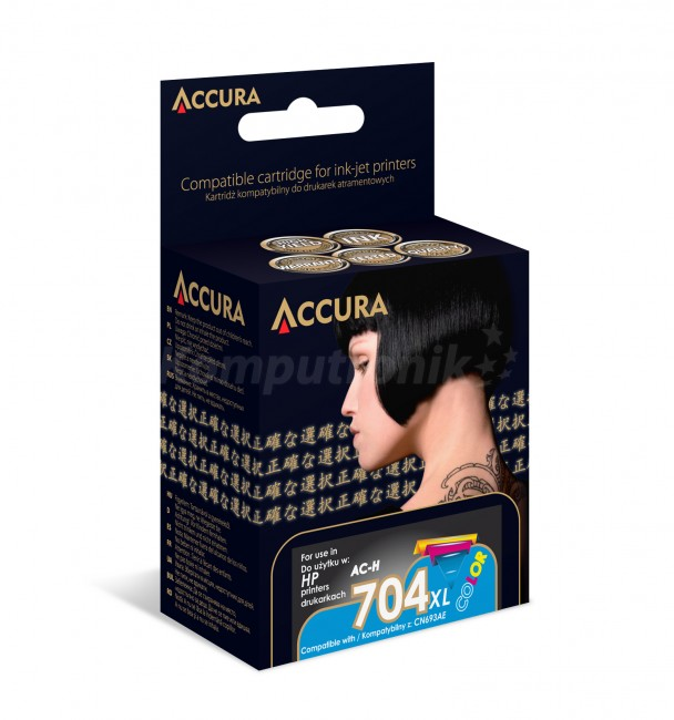 Accura ink HP No. 704 XL (CN693AE) zamiennik - zdjęcie główne