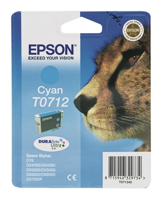 Epson T0712 Durabrite Ultra błękitny - zdjęcie główne
