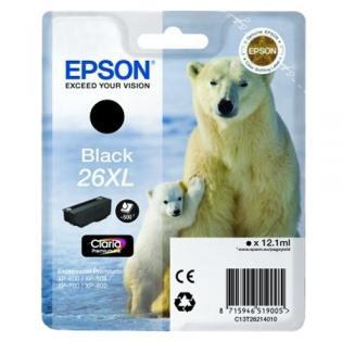 Epson 26 XL Claria czarny - zdjęcie główne