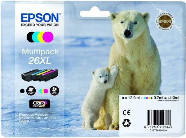 Epson 26 XL Claria Premium [Multi Pack] - zdjęcie główne