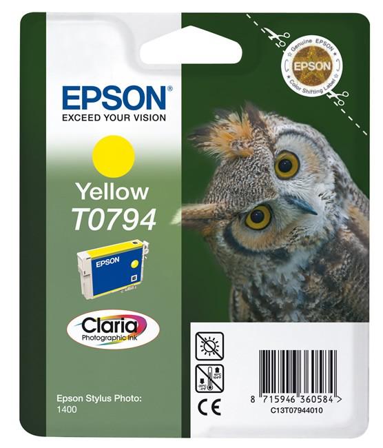 Epson T0794 Claria Photo żółty - zdjęcie główne