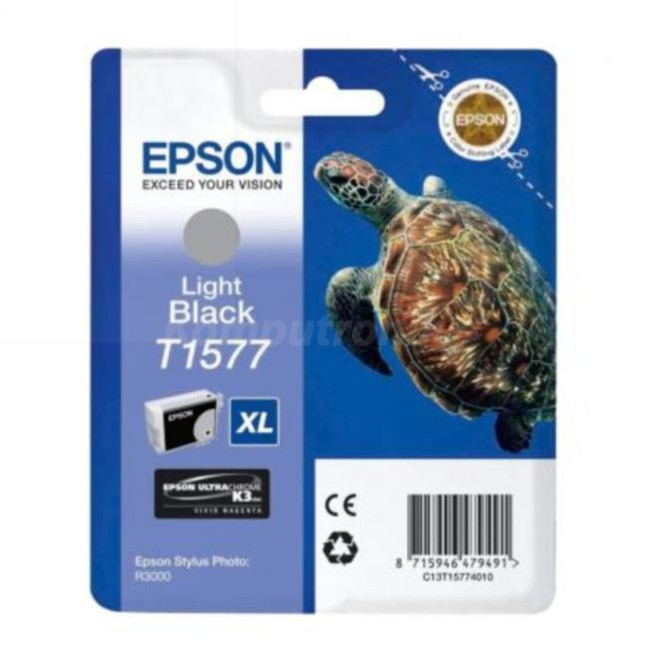Epson T1577 XL Ultrachrome jasny czarny - zdjęcie główne