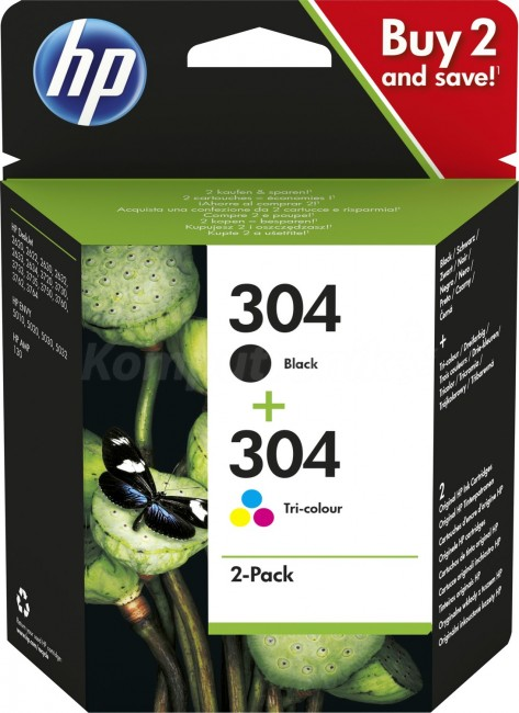 HP No. 304 dwupak bk + col - zdjęcie główne