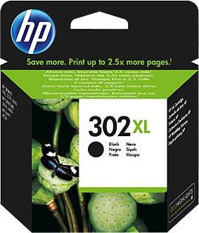 HP 302 XL czarny F6U68AE - zdjęcie główne