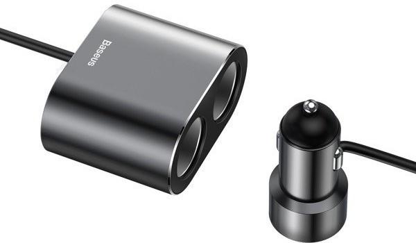 Baseus rozdzielacz zapalniczki 2x USB-A 0.60m - zdjęcie główne