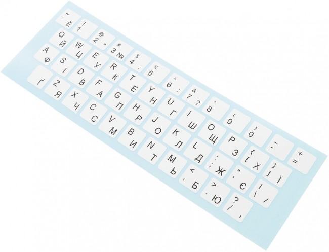 Accura naklejki na klawiaturę alfabet Ukraiński kolor biały - zdjęcie główne