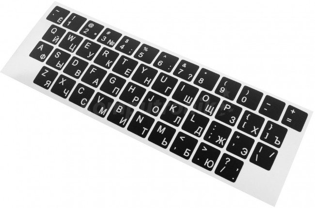 Accura naklejki na klawiaturę cyrylica Rosyjska kolor czarny - zdjęcie główne