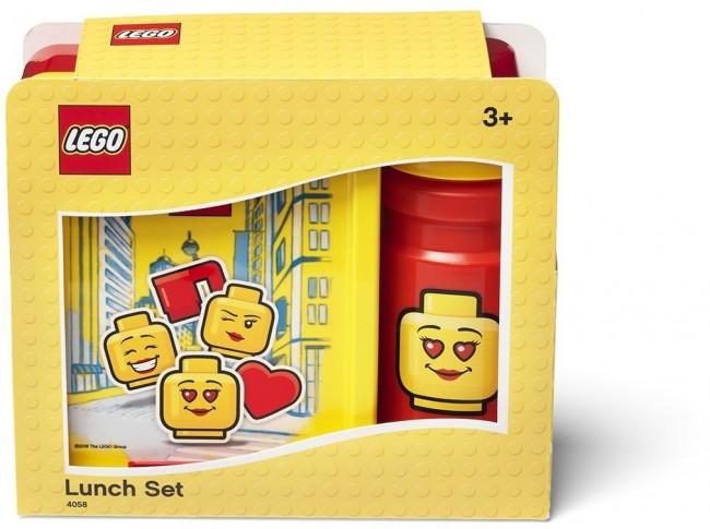 Lego Lunch Set Iconic Girl Bright Red - zdjęcie główne