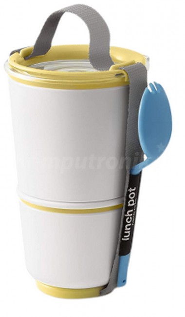 Black + Blum Lunch Pot BP012 żółto-bialy - zdjęcie główne