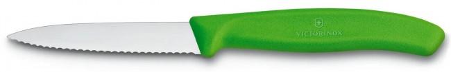 Victorinox Swiss Classic do jarzyn i owoców ząbkowany 8 cm zielony - zdjęcie główne