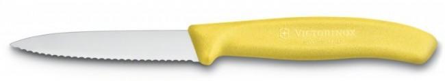 Victorinox Swiss Classic do jarzyn i owoców ząbkowany 8 cm żółty - zdjęcie główne