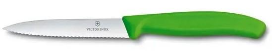 Victorinox Swiss Classic do jarzyn i owoców ząbkowany 10 cm zielony - zdjęcie główne