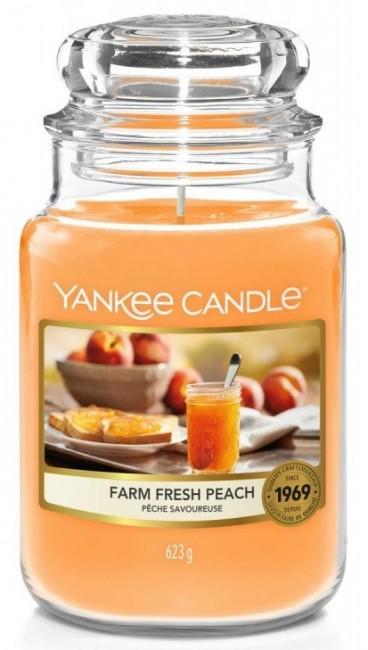 Yankee Candle Farm Fresh Peach Słoik duży 623g - zdjęcie główne