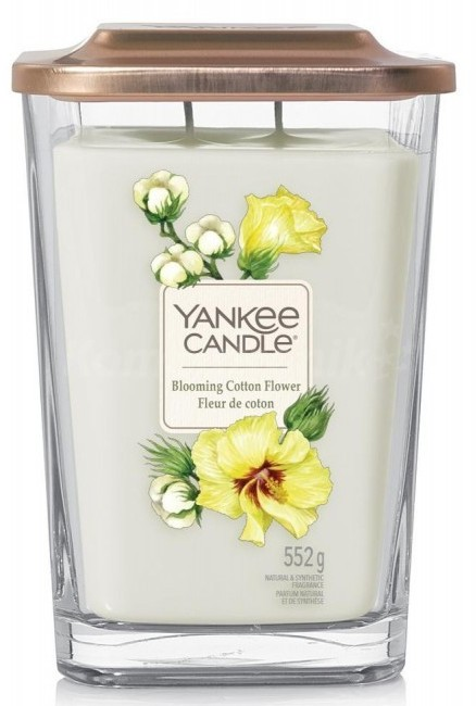 Yankee Candle Elevation Collection Blooming Cotton Flower Słoik duży 552g - zdjęcie główne