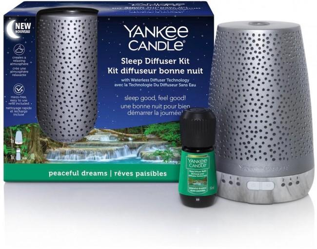 Yankee Candle Sleep Diffuser Peaceful Dreams odświeżacz + olejek - zdjęcie główne