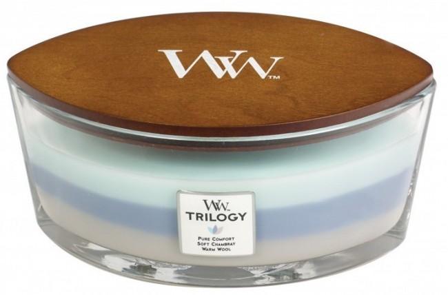 WoodWick Trilogy Woven Comforts Elipsa 453,6g - zdjęcie główne