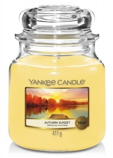 Yankee Candle Autumn Sunset Słoik średni 411g - zdjęcie główne