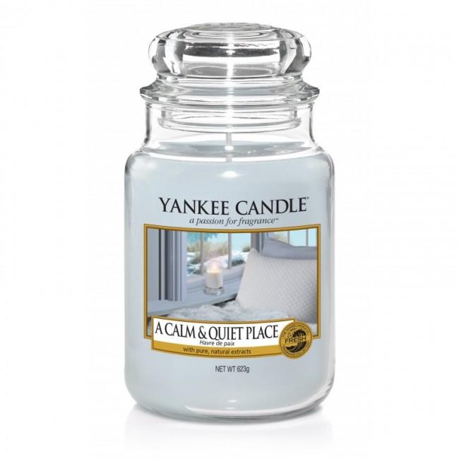Yankee Candle A Calm & Quiet Place Słoik duży 623g - zdjęcie główne