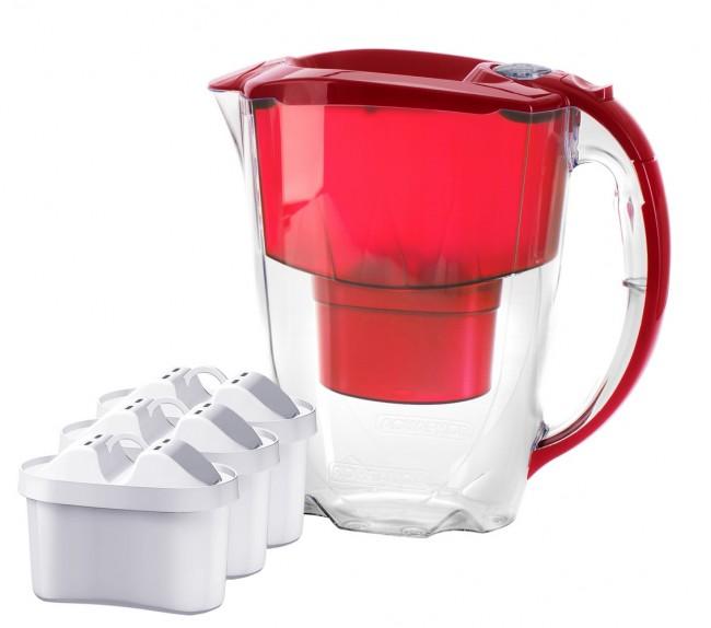 Aquaphor Amethyst 2,8l czerwony + 3 wkłady Maxfor - zdjęcie główne
