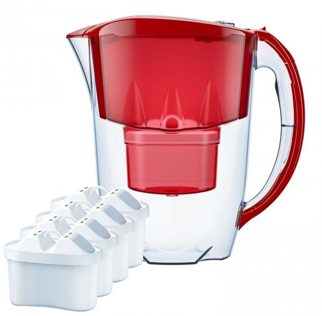 Aquaphor Jasper 2,8l czerwony + 4 wkłady Maxfor - zdjęcie główne