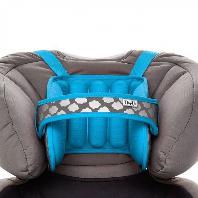 NapUp Opaska podtrzymująca głowę w foteliku samochodowym - niebieska - zdjęcie główne