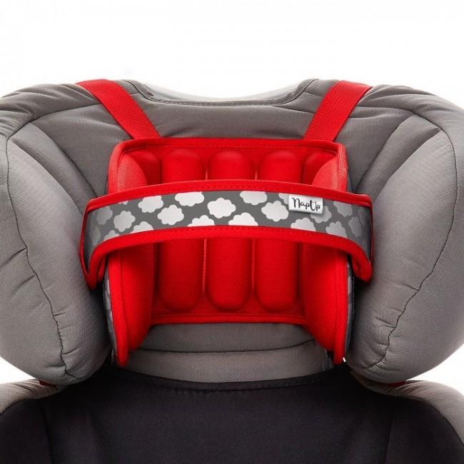 NapUp Opaska podtrzymująca głowę w foteliku samochodowym - czerwona - zdjęcie główne