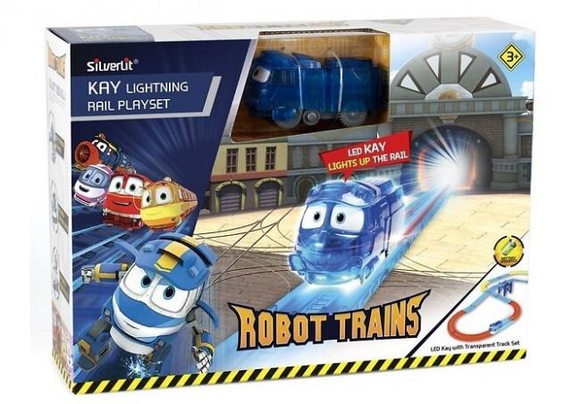 Cobi Robot Trains Świecący Kay zestaw z torami - zdjęcie główne