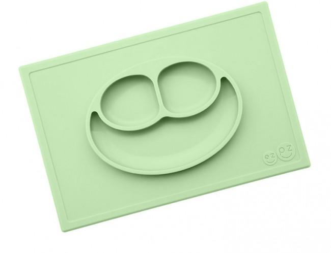 EZPZ Talerzyk 2w1 Happy Mat pastelowa zieleń - zdjęcie główne