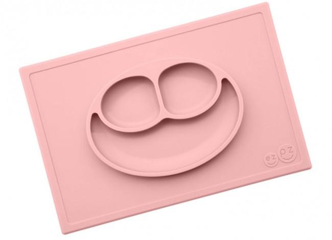 EZPZ Talerzyk 2w1 Happy Mat pastelowy róż - zdjęcie główne