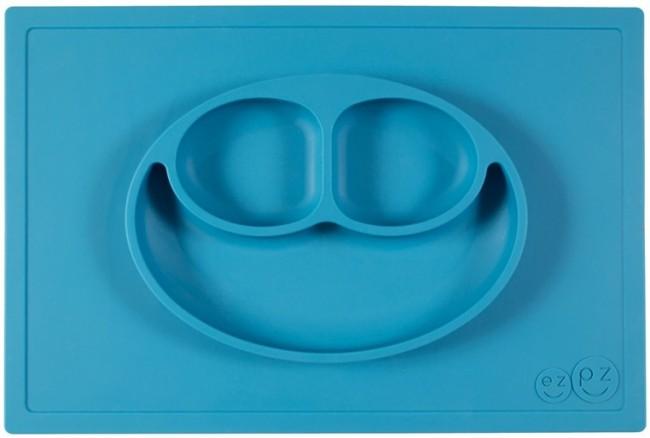 EZPZ Talerzyk 2w1 Happy Mat niebieski - zdjęcie główne