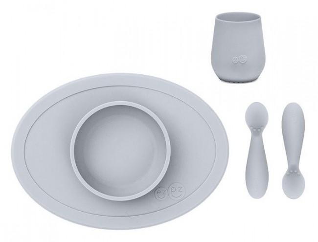 EZPZ First Foods Set pastelowa szarość - zdjęcie główne