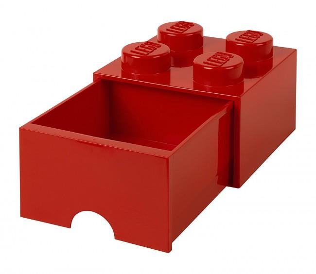 Lego Brick Drawer 4 czerwony - zdjęcie główne
