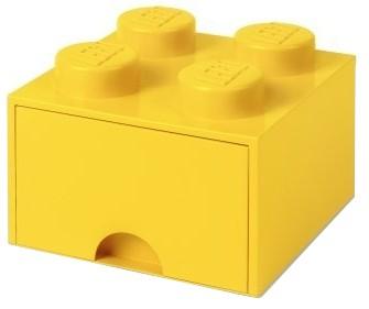 Lego Brick Drawer 4 żólty - zdjęcie główne