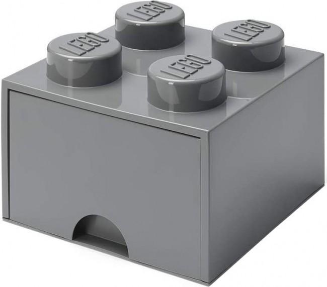 Lego Brick Drawer 4 ciemnoszary - zdjęcie główne