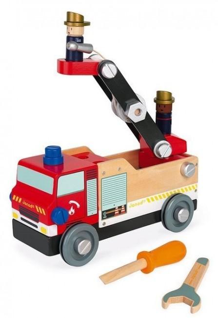 Janod Brico'kids wóz strażacki do składania z narzędziami - zdjęcie główne