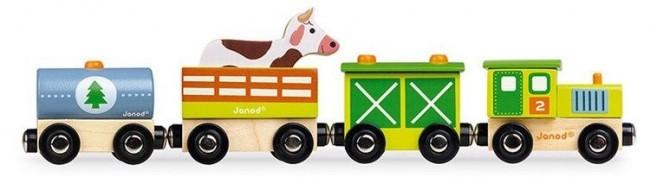 Janod Pociąg drewniany Farma - zdjęcie główne