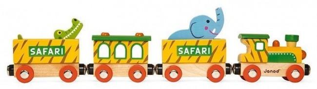 Janod Pociąg drewniany Safari - zdjęcie główne