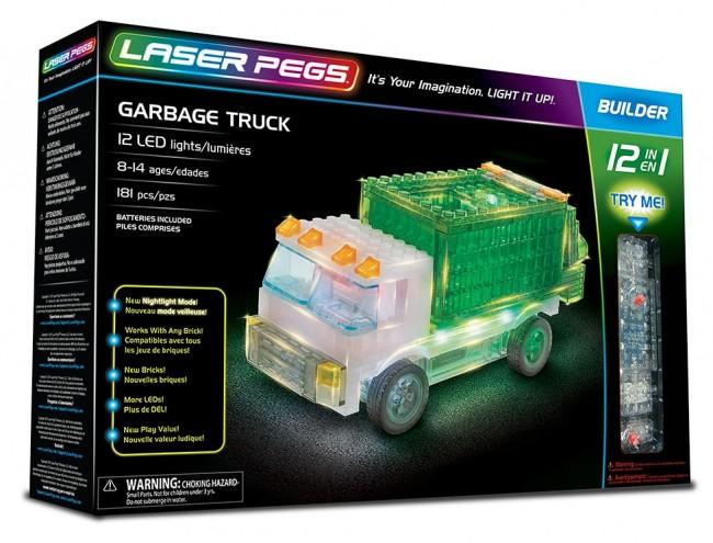 Laser Pegs 12 In 1 Garbage Truck 12013 - zdjęcie główne