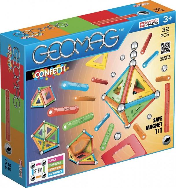 Geomag Klocki Magnetyczne Confetti 32 ele - zdjęcie główne