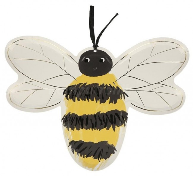 Meri Meri talerzyki Pszczoła - 8 szt - zdjęcie główne